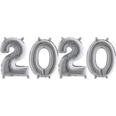 Novoročné číslo malé 2020 Strieborné