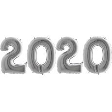Novoročné číslo 2020 Strieborné 100 cm