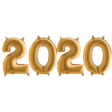 Novoročné číslo malé 2020 Zlaté