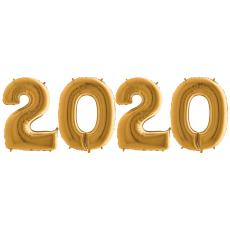 Novoročné číslo 2020 Zlaté 100 cm