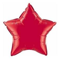Balón hviezda červená matná