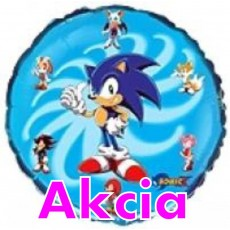 Balón Sonic - kruh - bledý