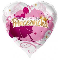 Balón Všetko najlepšie Princeznička