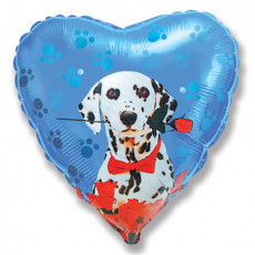 Balón Dalmatín s ružou modrý