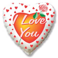 Balón I love you s ružou