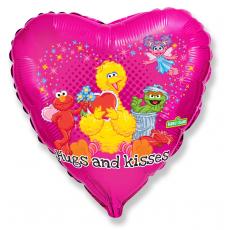 Balón Elmo Objatie a Bozky