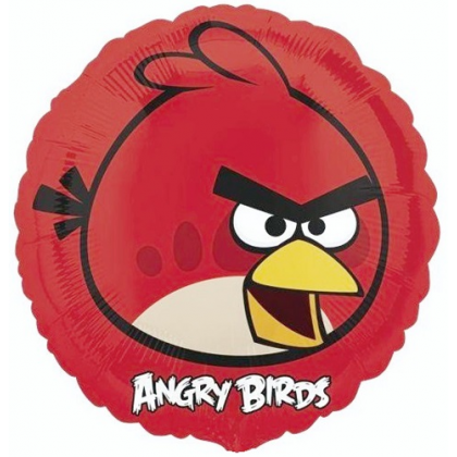 Balón Angry Birds červený US