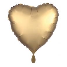 Balón Srdce zlaté saténové 45 cm