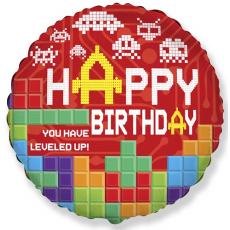 Balón Tetris Happy BDay