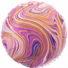 Balón fóliový mramor fialový