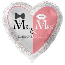 Balón Mr & Ms Konečne spolu