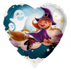Balón Halloween Bosorka na metle