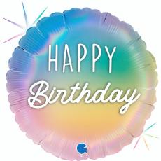 Balón Happy Birthday dúhové