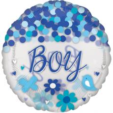 Balón Chlapec / Boy s konfetami