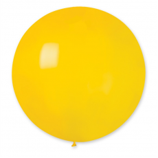 Balón veľký gigant Žltý 100 cm