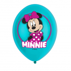 Balóny Minnie Mouse tyrkys /6ks/