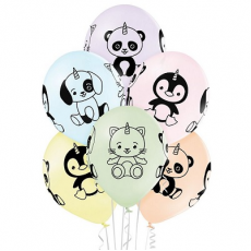 Balóny Zvieratká 6 ks