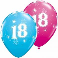 Balón číslo 18 Sparkle RND 11´´ Q