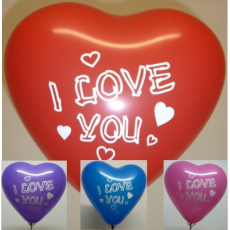 Balón Srdce I love you mix 28 cm 100ks