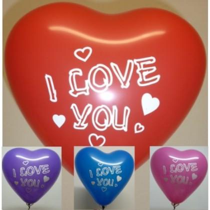 Balón Srdce s potlačou mix 28 cm 100ks