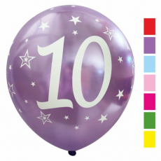 Balón metalický číslo 10 mix