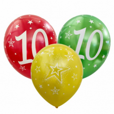 Balón metalický číslo 10 mix 6ks