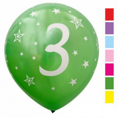 Balón metalický číslo 3 mix 6ks