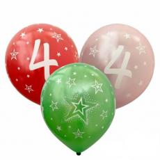 Balón metalický číslo 4 mix 6ks