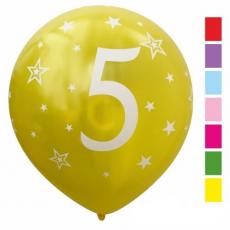 Balón číslo 5 mix metalický