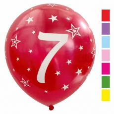 Balón číslo 7 mix metalický