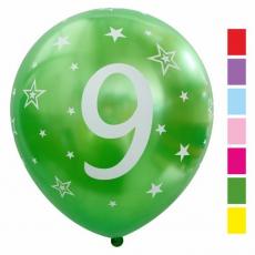 Balón metalický číslo 9 mix 6ks