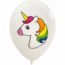 Balóny Jednorožec biele 5ks