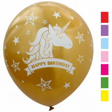 Balóny Metalické Happy Birthday Jednorožec