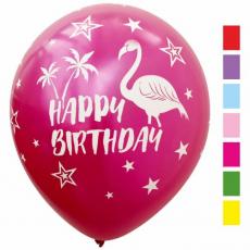 Balóny Metalické Happy Birthday Plameniak