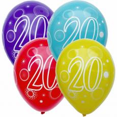 Narodeninový balón číslo 20 5ks