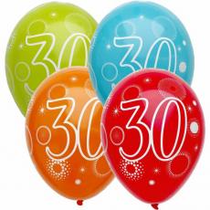 Narodeninový balón číslo 30 5ks