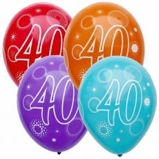 Narodeninový balón číslo 40 5ks