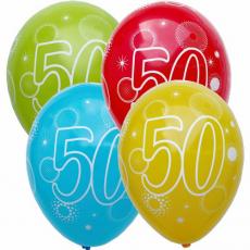 Narodeninový balón číslo 50 5ks