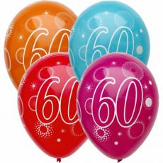 Narodeninový balón číslo 60 5ks