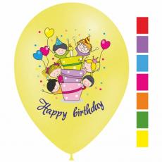 Set balónov Happy Birthday 6ks