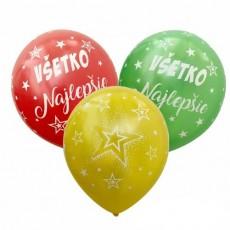 Balóny s potlačou Všetko najlepšie