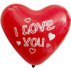 Balón Srdce - I Love You 28cm