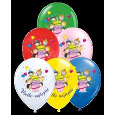 Narodeninové balóny Všetko najlepšie torta