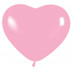 Balón srdce Ružové 109 pastel