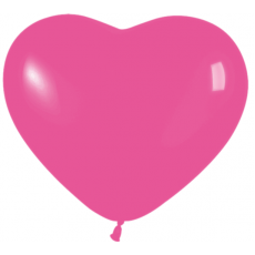 Balón srdce tmavo Ružové 012