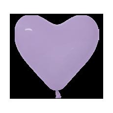 Balón srdce Bledo fialova 050