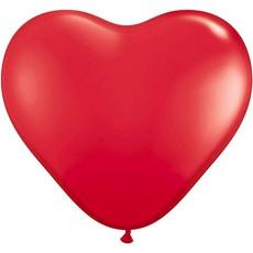 Balón srdce červené 12´´- 31cm