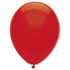 Balón Červený priehľadný s126