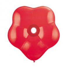Balón červený kvetinka  BSM Red 40cm