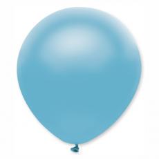 Balón metalický bledo modrý s315 32 cm